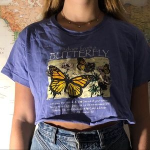 Vintage Butterfly cut off T-shirt